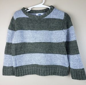 EUC Old Navy Thick Stripe Knit Sweater, size 4T